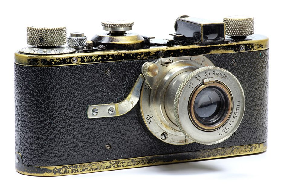 A 35mm film Leica camera from 1925