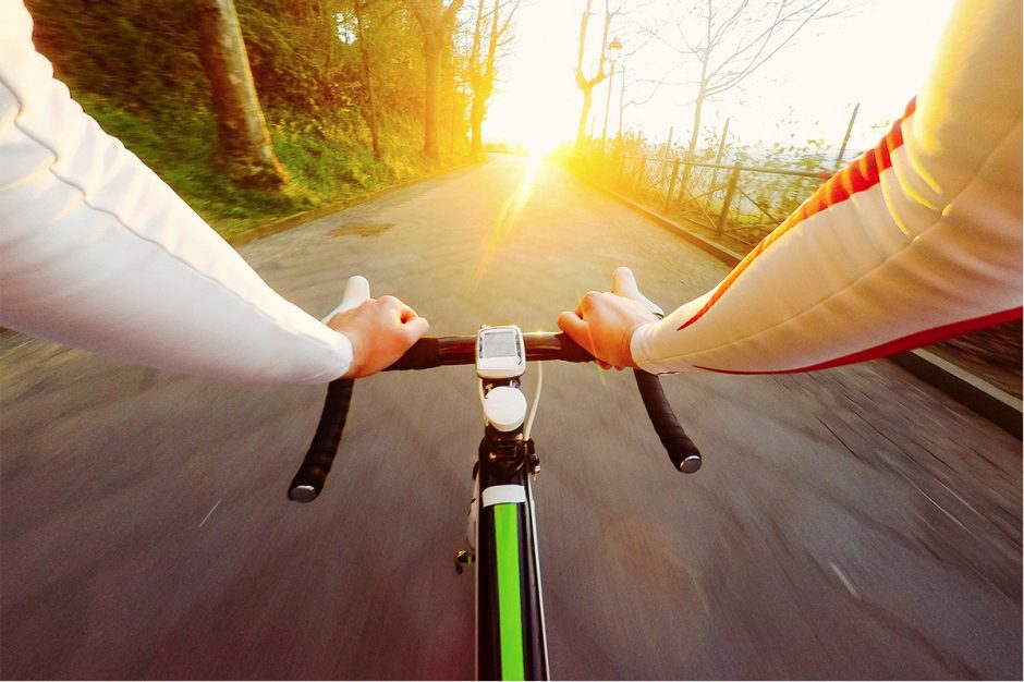 A bike ride photo shot with a GoPro