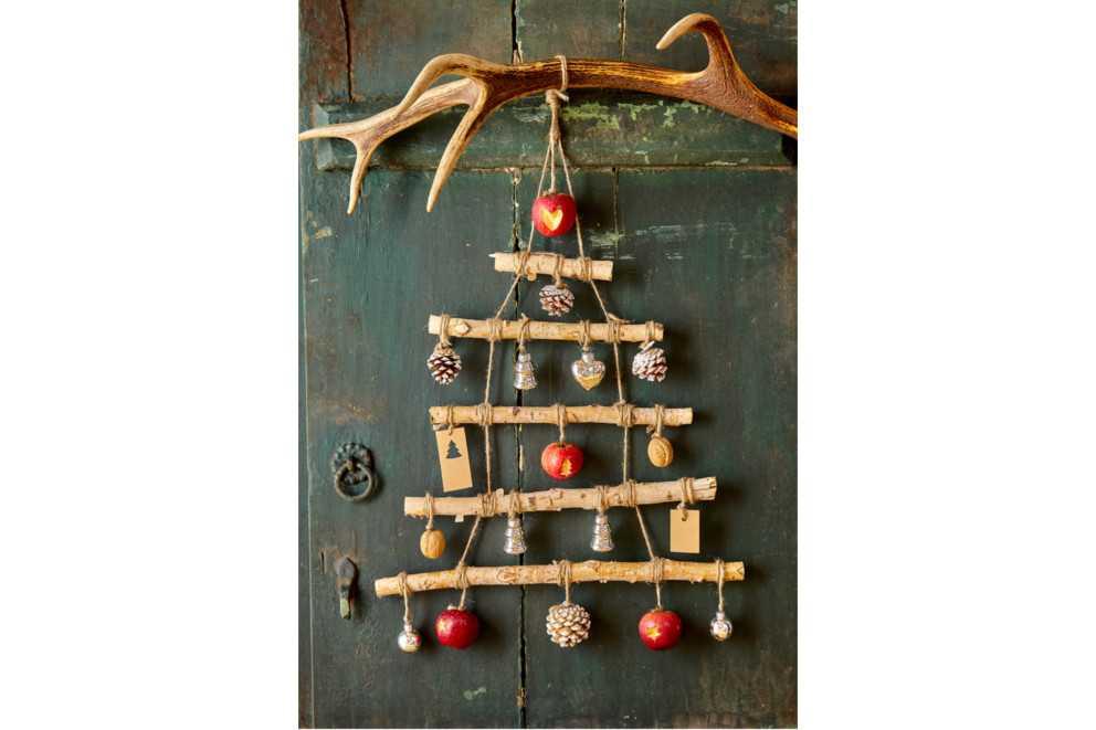 Ein Foto-Poster Weihnachtsbaum Als Kreative Alternative
