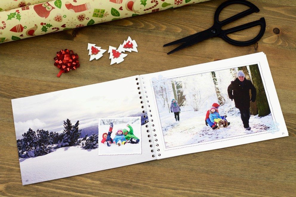 a photo book as a christmas present for the grandparents