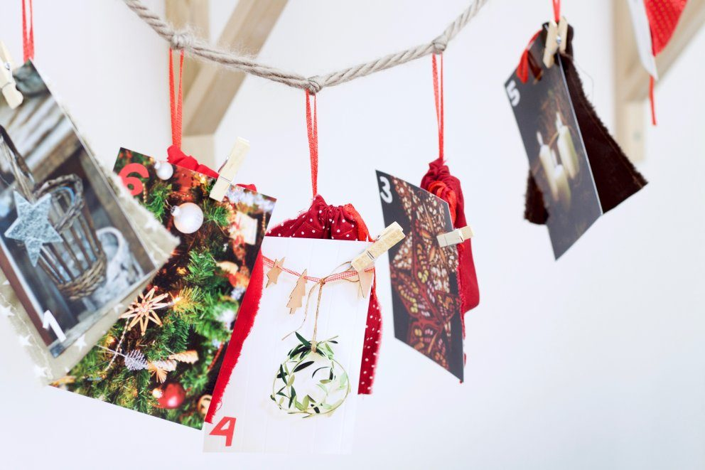 weihnachtliche fotogirlande als bef llbarer. Black Bedroom Furniture Sets. Home Design Ideas