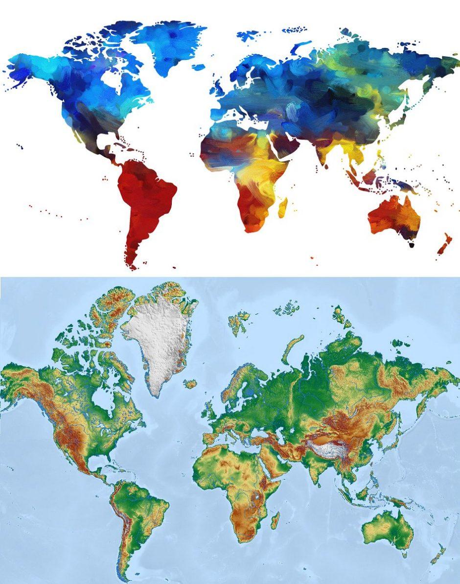 Individuelle weltkarte mit ferienfotos gestalten ifolor - Weltkarte mit fotos ...