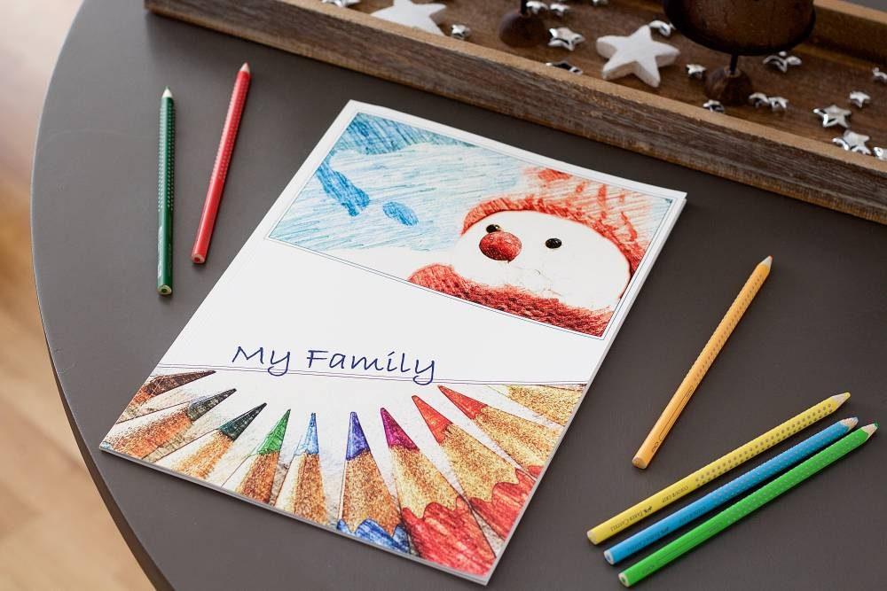weihnachtliches ausmalbuch als individuelle geschenkidee. Black Bedroom Furniture Sets. Home Design Ideas