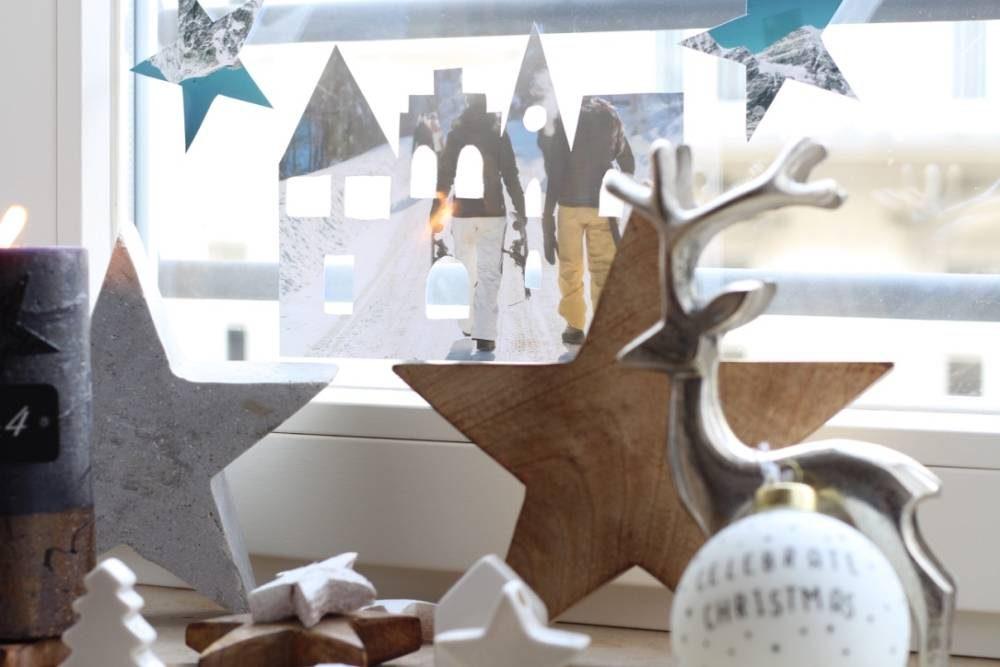 Decorazioni natalizie per i vetri delle finestre con le vostre foto pi belle ifolor - Addobbi natalizi per le finestre ...