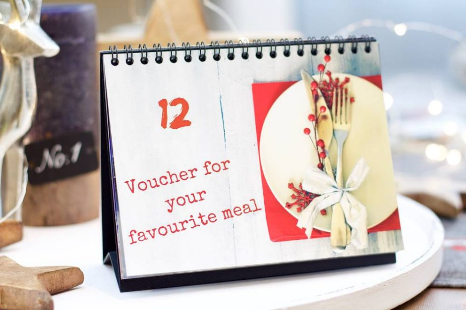 Small Gift Vouchers in the Advent Calendar