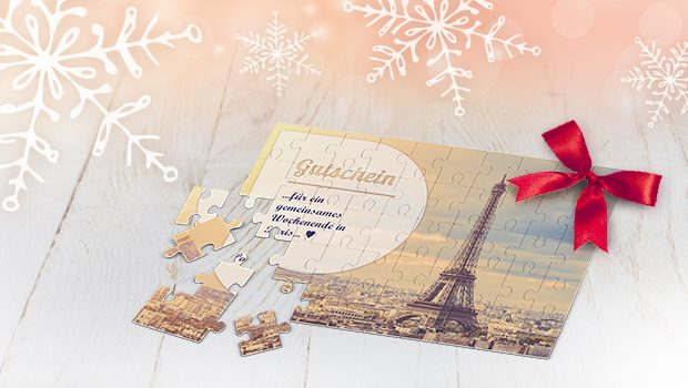 The gift voucher as photo puzzle