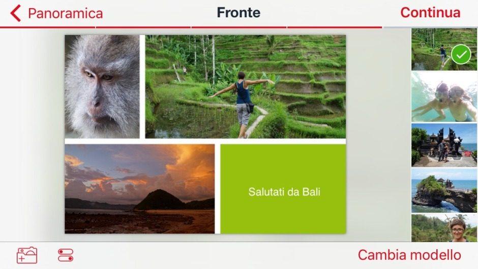 La app di ifolor per creare delle cartoline personalizzate per ios