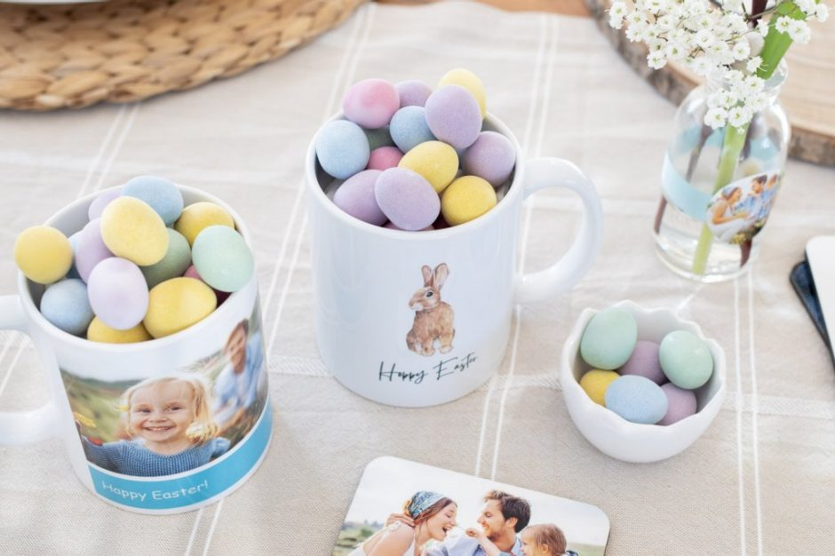 Silly bunny ears and the addition of chocolate will make your Easter mug the perfect gift for your host
