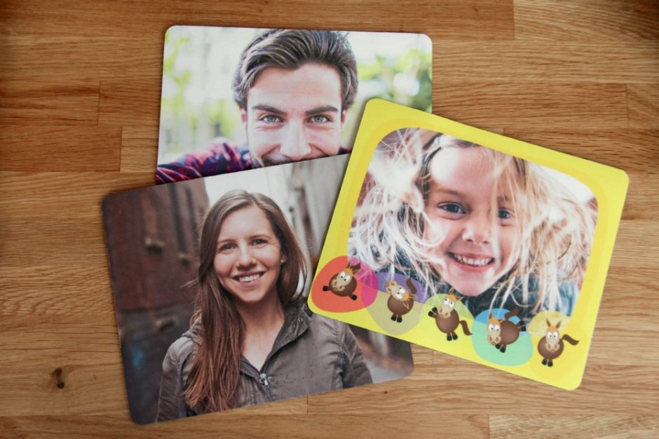 A photo mouse pad for every family member