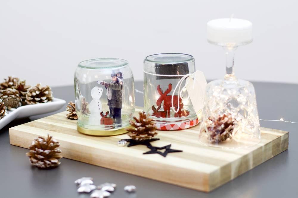 diy eine weihnachtliche schneekugel mit eigenen fotos basteln ifolor. Black Bedroom Furniture Sets. Home Design Ideas