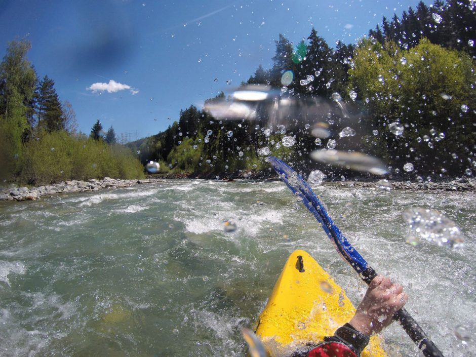 Right in the middle of the action kayaking in the Alps - wild times in wild water