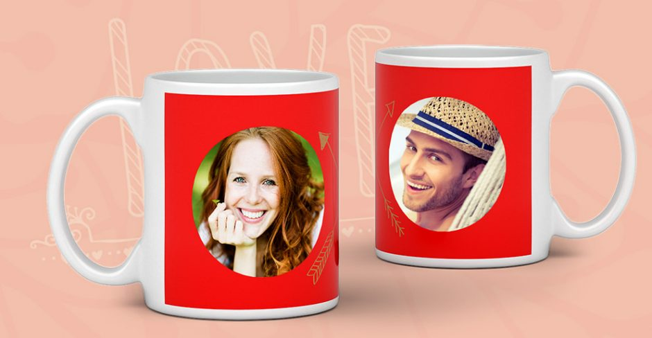 A photo mug as a Valentine's Day gift - creative design with ifolor