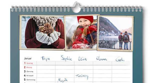 Calendario Scrivibile.Calendario Famiglia Ifolor