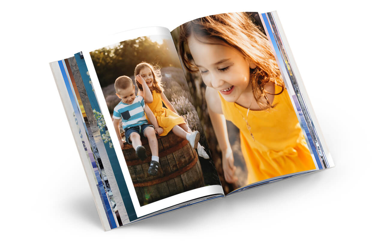 Your stories told through your photos in a Photo Book Deluxe